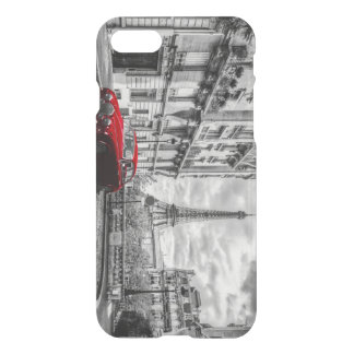Eiffle Tower Black, White and Red. iPhone 7 Case