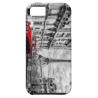 Eiffle Tower Black, White and Red. iPhone SE/5/5s Case