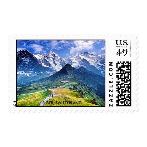 EIGER MOUNTAIN, SWITZERLAND POSTAGE