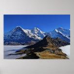 Eiger, und Jungfrau, Suiza, Schweiz de Mönch Poster