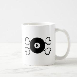 eight 8 ball Skull and Crossbones Classic White Coffee Mug