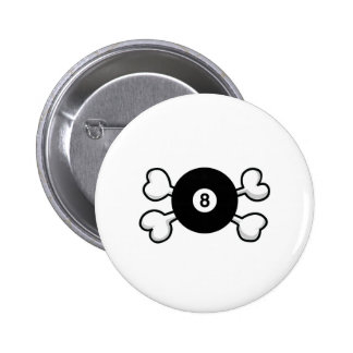 eight 8 ball Skull and Crossbones Pins