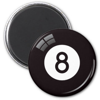 Eight ball 2 inch round magnet