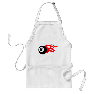Eight Ball and Flames Adult Apron