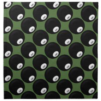 Eight Ball Billiard Cloth Napkin