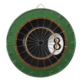 Eight Ball Billiard Custom Game Dart Boards