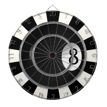 Eight Ball Billiard Custom Game Dart Boards