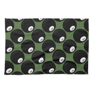 Eight Ball Billiard Kitchen Towels