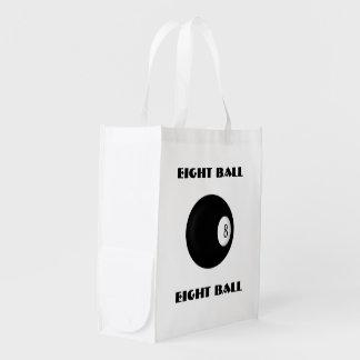 Eight Ball Billiard Reusable Grocery Bag