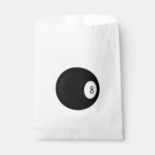 Eight Ball Billiard Theme Favor Bag