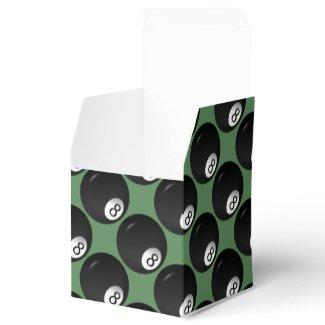 Eight Ball Billiard Theme Favor Box