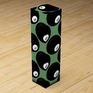 Eight Ball Billiard Theme Wine Box
