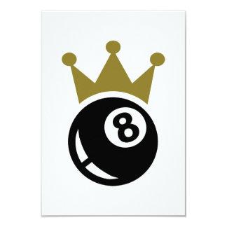 Eight ball billiards crown card