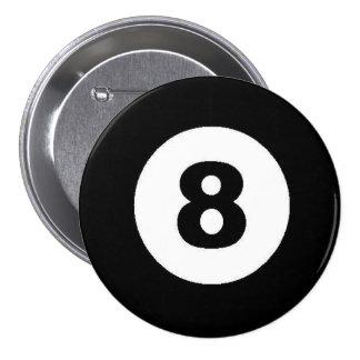 Eight Ball 3 Inch Round Button