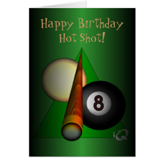 Eight Ball Greeting Card