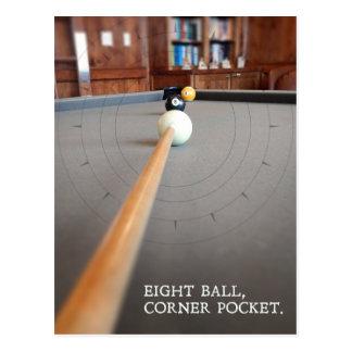 Eight Ball Corner Pocket Postcard