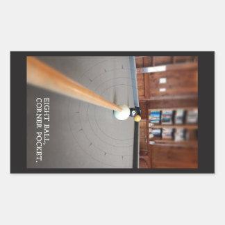 Eight Ball Corner Pocket Rectangular Sticker