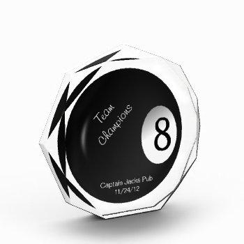 Eight Ball Crystal Billiard Sports Trophy Acrylic Award