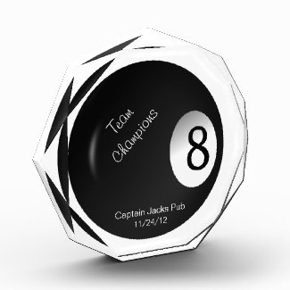 Eight Ball Crystal Billiard Sports Trophy Acrylic Award