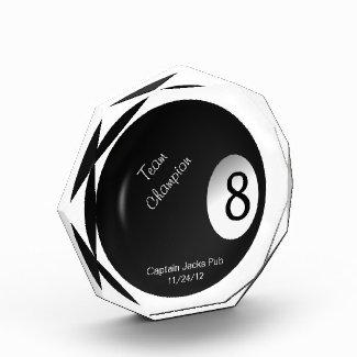 Eight Ball Crystal Billiard Sports Trophy Award