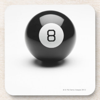 Eight ball drink coaster