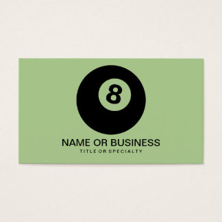 eight ball icon business card