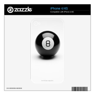 Eight ball iPhone 4 decal