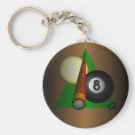 Eight Ball Key Chains