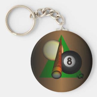 Eight Ball Basic Round Button Keychain