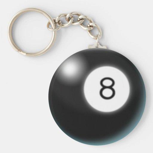 Eight Ball Keychain