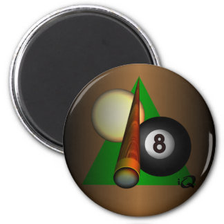 Eight Ball 2 Inch Round Magnet