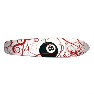 Eight Ball Natural Wood Skateboard Deck