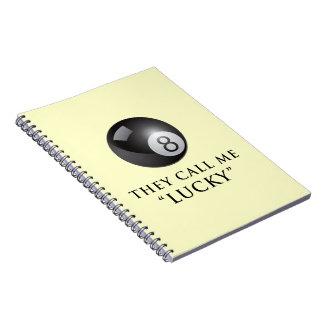 Eight ball spiral note books