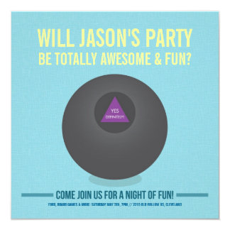 Eight Ball Party Invite