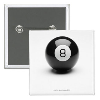 Eight ball pinback button