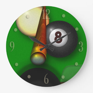 Eight Ball Pool and Billiards Wallclock