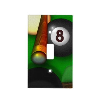 Eight Ball Pool and Billiards Light Switch Cover