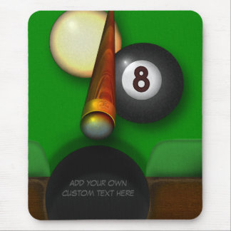 Eight Ball Pool and Billiards Personalized Mouse Pad