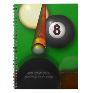 Eight Ball Pool and Billiards Personalized Notebooks