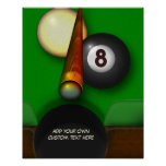 Eight Ball Pool and Billiards Personalized Poster