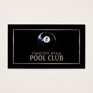 Eight Ball, Pool Club Business Card