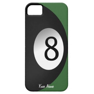 Eight Ball Pool Game Custom iPhone 5 Cases