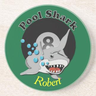 Eight Ball Pool Shark Beverage Coaster