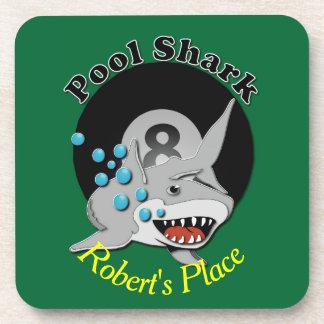 Eight Ball Pool Shark Drink Coasters