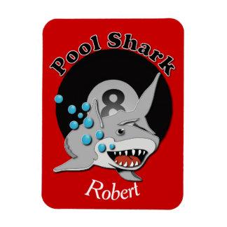 Eight Ball Pool Shark Rectangle Magnets