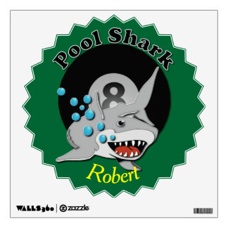 Eight Ball Pool Shark Wall Decal