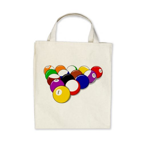 Eight Ball Rack Tote Bag
