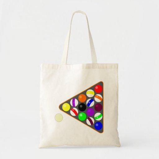 Eight Ball Rack Canvas Bags