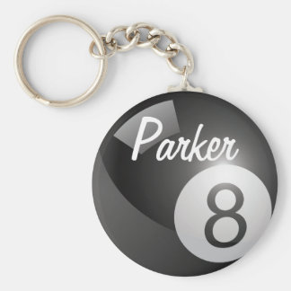 Eight Ball Sports Keychain