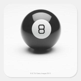 Eight ball square sticker